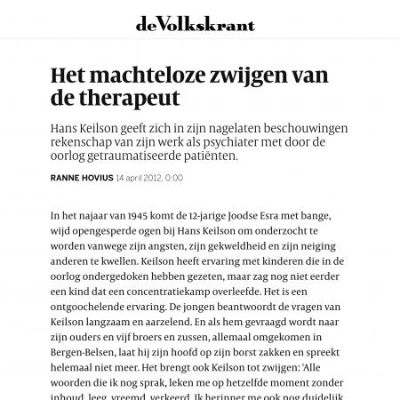 Hans Keilson Liever Holland dan heimwee recensie